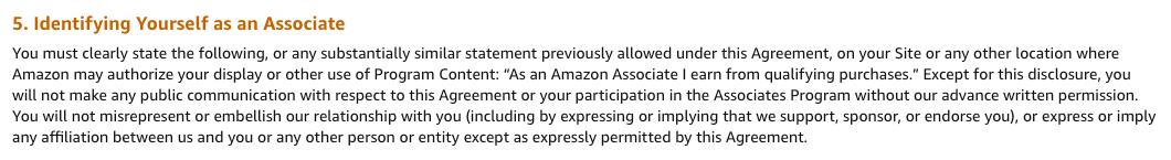 Amazon's Associates Program Operating Agreement