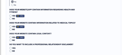 privacyterms.io disclaimer generator nature of content section