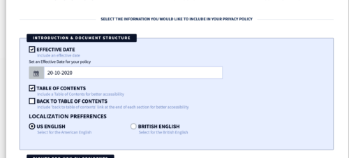 privacyterms.io privacy policy generator introduction section