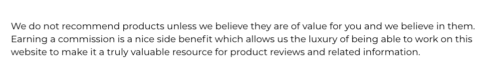 Product Review Alliance review disclaimer