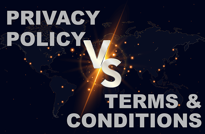 Privacy Policy vs terms and conditions